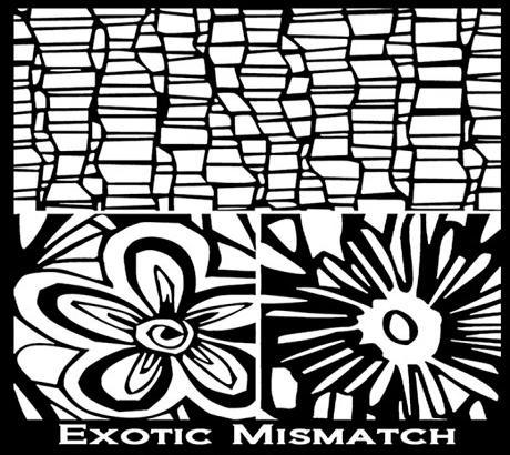 Silk Screen трафарет Exotic Mismatch