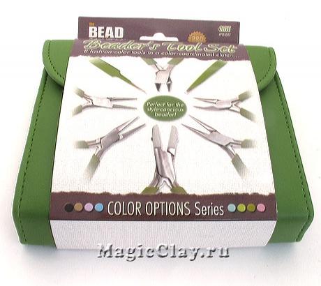 Набор BeadSmith из 8 инструментов для бижутерии, цвет Оливковый