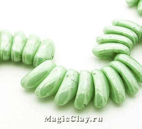 Бусины Chilli 4мм, Chalk Green Lustered, 1нить (~40шт)