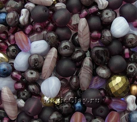 Бусины микс Фиолетовый Восторг, 50 гр