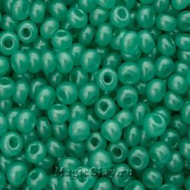 Бисер чешский 10/0 Алебастр, 17958 Green