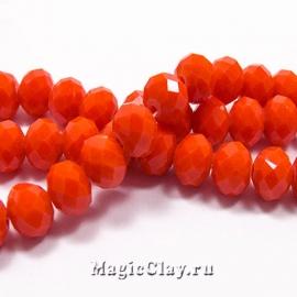 Бусины рондели Оранжевый Бархат 8х6мм, 1нить (~70шт)