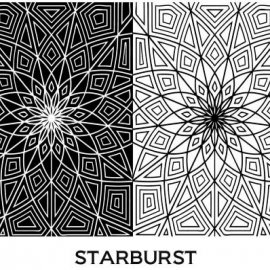 Pixie Art Stamps текстурный лист Starburst
