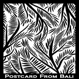Silk Screen трафарет Postcard from Bali