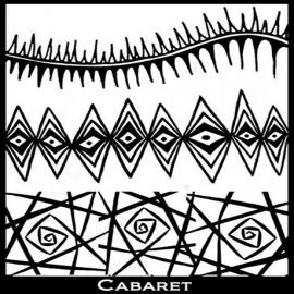 Silk Screen трафарет Cabaret