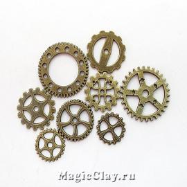 Watch Часовые Механизмы, цвет античная бронза, 10шт