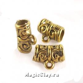 Бейл Симфония 11х5мм, цвет золото, 1шт