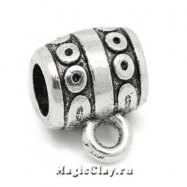 Бейл Вояж 10х9мм, цвет серебро, 5шт