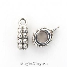 Бейл Галатия 13х8мм, цвет серебро, 1шт