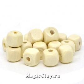 Бусины деревянные Куб Намибия, 1уп (~30шт)