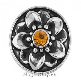 Кнопка Chunk Фиалка, цвет серебро