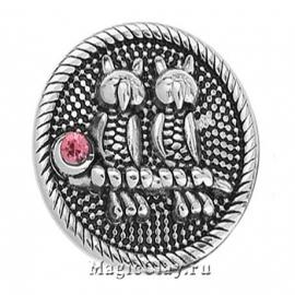 Кнопка Chunk Ночные Совы, цвет серебро