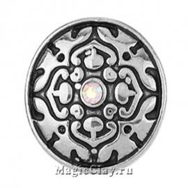 Кнопка Chunk Кармен, цвет серебро