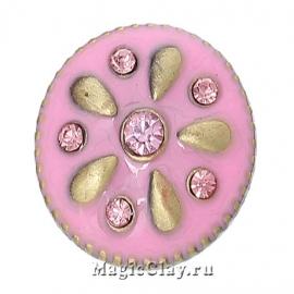 Кнопка Chunk Розовый Сад, цвет бронза