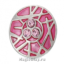 Кнопка Chunk Паутинка Трио, цвет серебро