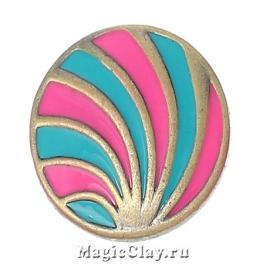 Кнопка Chunk Калейдоскоп, цвет бронза
