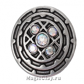 Кнопка Chunk Джаз, цвет серебро