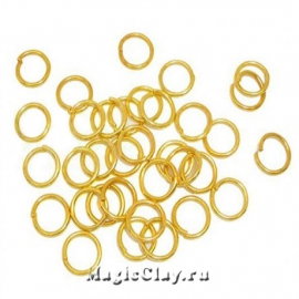 Колечки разъемные, цвет золото 10х1,2мм, 1уп (~50шт)