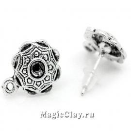 Пуссеты Розарий, цвет серебро