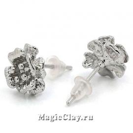 Пуссеты Волшебные Маки, цвет серебро