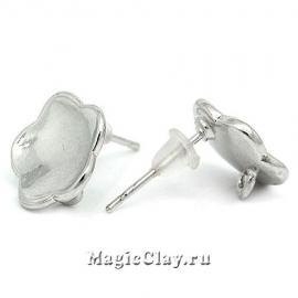 Пуссеты Фиалка, цвет серебро
