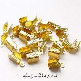 Зажимы 12х5мм, цвет золото, 20шт