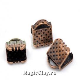 Зажимы для лент 6х8мм, цвет медь, 30шт