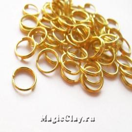 Колечки двойные, цвет золото 8мм, 1уп (~100шт)