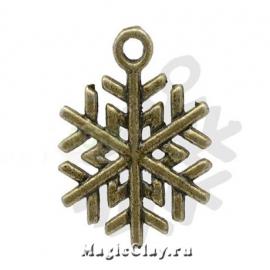 Подвеска Winter Снежинка3, цвет античная бронза, 1шт