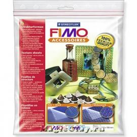 Набор текстурных листов Fimo Фактура дерева/ Плетение