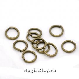 Колечки разъемные, цвет античная бронза 7х0,9мм, 1уп (~200шт)