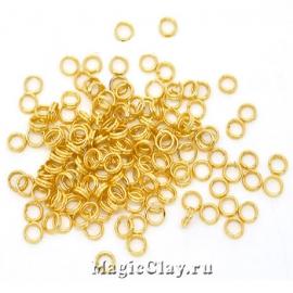 Колечки двойные, цвет золото 5мм, 1уп (~200шт)