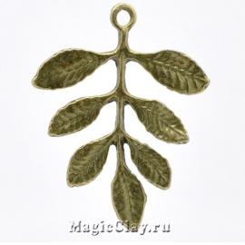 Коннектор Веточка 31х27мм, цвет античная бронза, 1шт