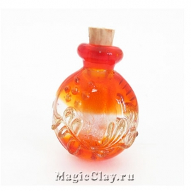 Бутылочка муранское стекло, Мандарин