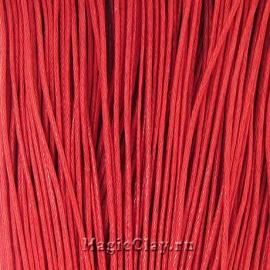 Шнур вощеный 1мм Красный, 1 связка (~80метров)