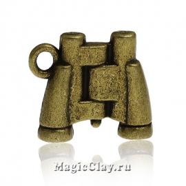 Подвеска Бинокль, цвет античная бронза, 1шт