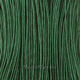 Шнур вощеный 1мм Зелёный Тёмный, 1 связка