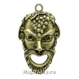 Подвеска Бахус, цвет античная бронза, 1шт