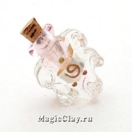 Бутылочка муранское стекло, Нежная Роза
