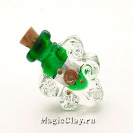 Бутылочка муранское стекло, Зелёный Сад