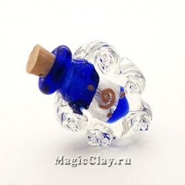 Бутылочка муранское стекло, Сапфировый Шторм