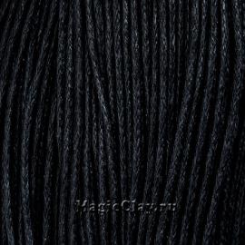 Шнур вощеный 1мм Черный, 1 связка (~80метров)