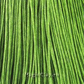 Шнур вощеный 1мм Зеленый, 1 связка
