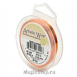 Проволока Artistic Wire 1мм, медная Bare Copper
