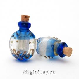 Бутылочка муранское стекло, Сапфировый Вечер