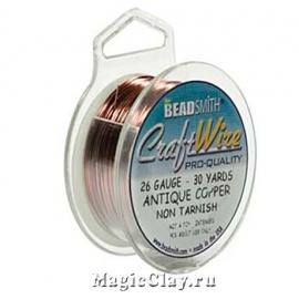 Проволока Craft Wire BeadSmith 0,4мм, цвет медь