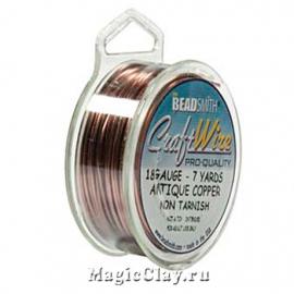 Проволока Craft Wire BeadSmith 1мм, цвет медь