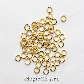 Колечки разъемные, цвет золото 3х0,6мм, 1уп (~500шт)
