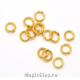 Колечки разъемные, цвет золото 5х0,9мм, 1уп (~200шт)