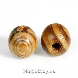 Бусины деревянные Макабана, 1уп (~20шт)